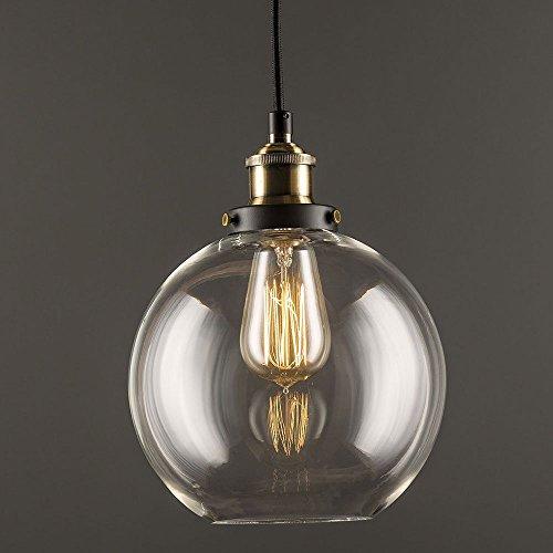 Glas Pendelleuchte Lantu Vintage Industrial Metall Bronze Glas Deckenleuchte Schatten Haus Dekoration Licht