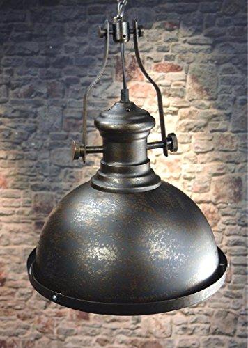 Livitat® Deckenleuchte Pendelleuchte Fabrikleuchte Industrie Look Retro Ø32 cm Vintage Schwarz