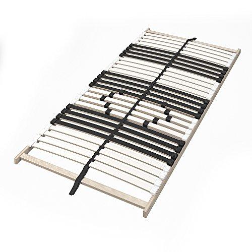 VitaliSpa 7-Zonen-Lattenrost 90x200cm Premium Härtegradverstellung Komfort (90 x 200 cm)