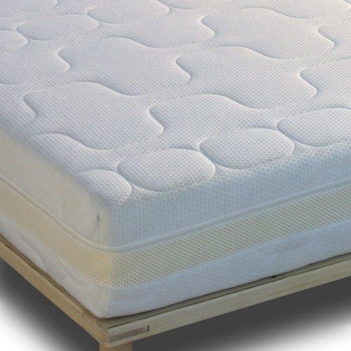 Gigapur 24383 G18 Matratze | 7-Zonen Kaltschaummatratze H3 | Premium Schaumstoff-Matratze mit Klimaband | Bezug waschbar | 160 x 200 cm