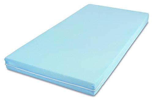 MSS 100700-200.90.11 Easy Active Matratze mit Bezug, 200 x 90 x 11 cm, blau