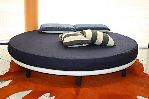 Rundbett, Matratze guter Qualität Durchmesser 220 cm eingeschlossen! Bezug Stoff Repellent. Produktion MADE IN ITALY!!!
