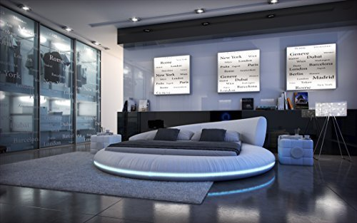 Komplettbett Rundbett Mezzo LED + Matratze + Lattenrost
