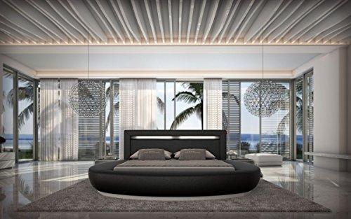 Rundbett Riva 180x200cm Doppelbett Designerbett Wasserbett vielen Farben und Größen