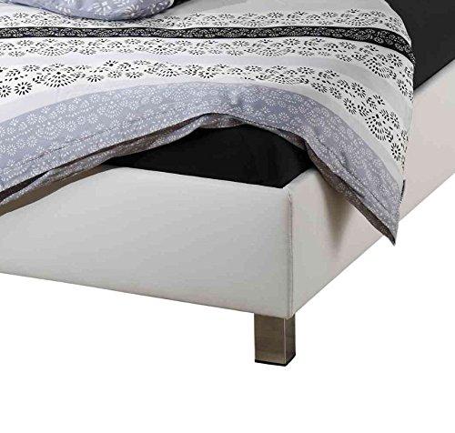 Maintal Betten 225988-4691 Polsterbett Moldau 100 x 200 cm, Kunstleder weiß