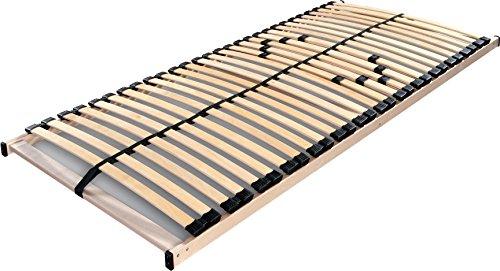 Betten ABC Lattenrost Max 1 NV zur Selbstmontage / Lattenrahmen in 90 x 200 cm mit 28 Leisten und Mittelzonenverstellung - geeignet für alle Matratzen