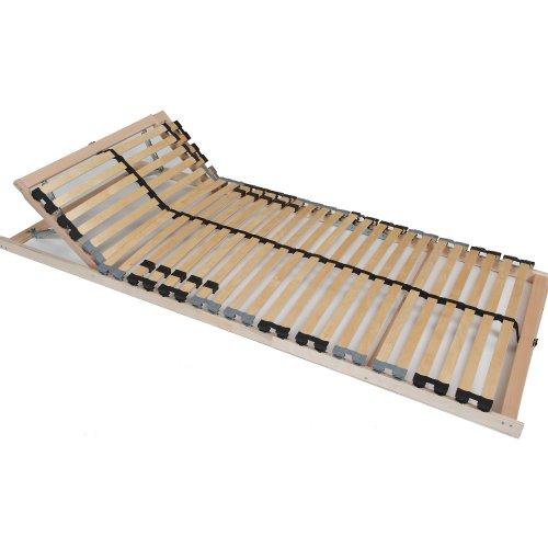 TAURO 22914 7 Zonen Lattenrost, 90 x 200 cm, Geeignet für alle Matratzen, Kopfteil verstellbar, Komfort Lattenrost mit 28 Leisten