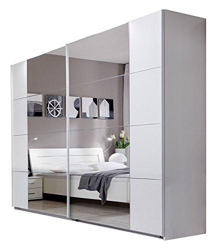 Wimex Kleiderschrank/ Schwebetürenschrank Davos, (B/H/T) 225 x 210 x 58 cm, Weiß