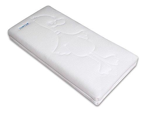 Betten ABC OrthoMatra Junior-Duo - Babymatratze und Kleinkindmatratze in Einem / Atmungsaktiver Kaltschaumkern mit Trittkante in 70 x 140 cm - allergikergeeignet