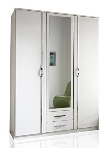 Wimex Kleiderschrank/ Drehtürenschrank Duo, 3 Türen, 2 Schubladen, (B/H/T) 135 x 198 x 58 cm, Weiß
