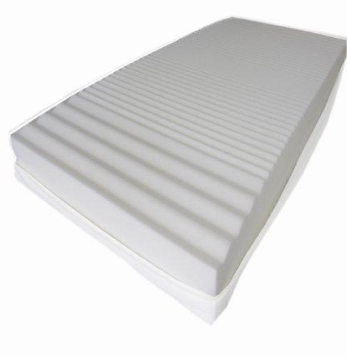 Dibapur® : Q 9 Zonen Orthopädische Kaltschaummatratze 90cm x 190cm x ca.15,5 cm Kern mit gesteppten Doppeltuchbezug ca. 16 cm Härtegrad: H2,5 (bis ca. 110 kg)