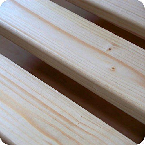 TUGA-Holztech 20mm Rollrost Lattenrost 100x200cm bis 200KG Flächenlast Qualitätsarbeit aus Deutschland unbehandelt frei von Chemie Naturprodukt