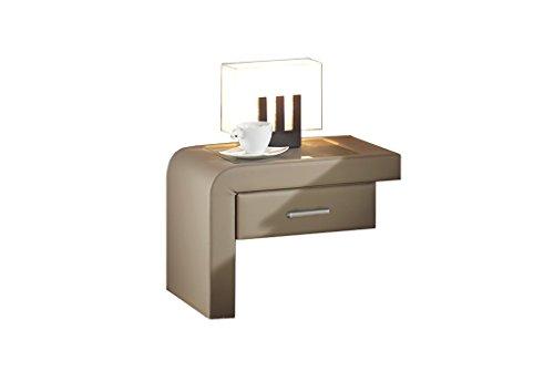 Maintal Betten 238681-4130 Einhängekonsole Java rechts, Kunstleder schlamm