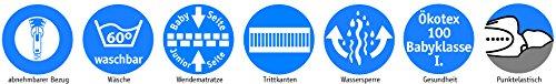 ARO Artländer 88277 Traumwolke Kids Matratze, Tencel Steppbezug, 100% Kaltschaum, Größe 70 x 140 cm