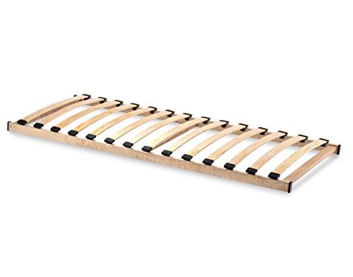 HomeBett-soft Lattenrost 90x200 cm NV, Geeignet für alle Matratzen, Komfort Lattenrost mit 14 hochelastische Federholzleisten