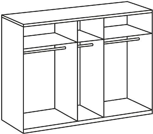 Wimex Kleiderschrank/ Drehtürenschrank Chalet, (B/H/T) 225 x 58 x 210 cm, Weiß