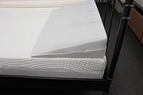 Dibapur® Keilkissen mit Aloe Vera Bezug Matratzen Matratzenkeil Matratzenerhöhung Hochlagerungskeil fürs Bett (B 80 x T 50 x H 15 / 1cm)