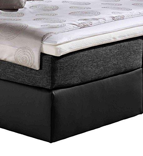 Maintal Boxspringbett Vanilla, 180 x 200 cm, Strukturstoff, 7-Zonen-Kaltschaum Matratze H2, schwarz