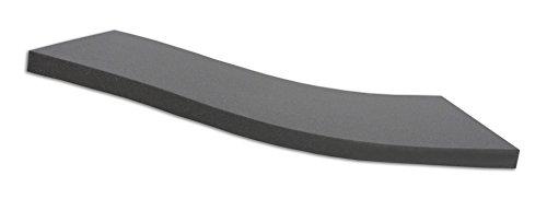Dibapur ® BLACK: Orthopädische Kaltschaummatratze / Akustikschaumstoff - H2 - (80x200x5 cm) Ohne Bezug - Made in Germany