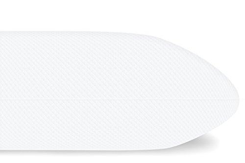Mister Sandman Orthopädisches Kopfkissen, 40 x 80 x 15 cm, Visco-Gelschaum, Premium Doppeltuch Bezug, Made in Germany - Nackenstützkissen, Nackenkissen, Kissen