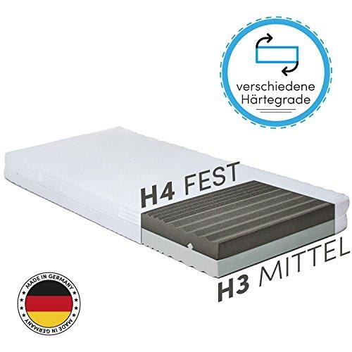 CozyFlex 7-Zonen Kaltschaum-Matratze – 2 in 1 Liegehärten durch einfaches Wenden (H3 & H4) – alle Größen erhältlich – Für alle Schlaftypen geeignet – OEKO-TEX® 100 – Made in Germany (160 x 200 cm)