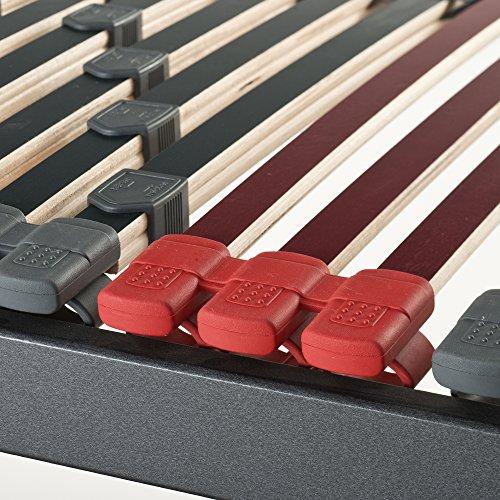 Betten ABC 7-Zonen Lattenrost Max Premium NV / Lattenrahmen in 140 x 220 cm mit 44 Leisten und Mittelzonenverstellung - geeignet für alle Matratzen