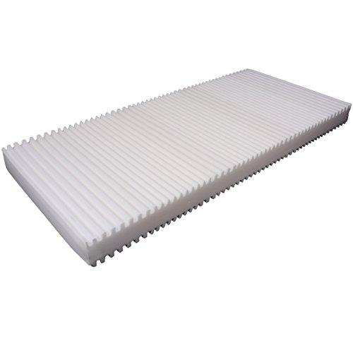 SleepPur Matratze Grey 16, H2 7 Zonen Kaltschaummatratze Made in Germany, Matratze mit Härtegrad H2 (ÖKO-TEX® 100 zertifiziert, Bezug waschbar bis 60 Grad, Rollmatratze) (90x200cm)