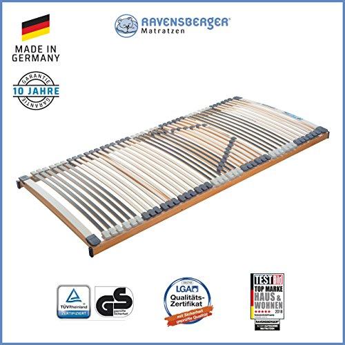 Ravensberger Matratzen Medimed® Lattenrost   7-Zonen-Buche-Lattenrahmen   44 Leisten  starr  MADE IN GERMANY - 10 JAHRE GARANTIE   TÜV/GS 90x200 cm