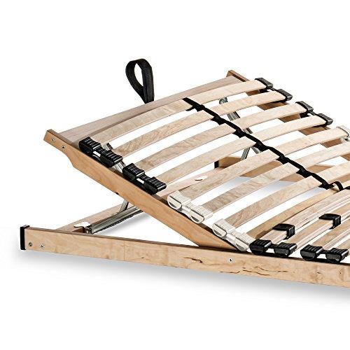 Betten-ABC Lattenrost Max KV zur Selbstmontage/Lattenrahmen in 120 x 200 cm mit verstellbarem Kopfteil und 28 flexiblen Federholzleisten - geeignet für alle Matratzen