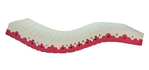 Hochwertige 2in1 Kaltschaummatratze - 90x200 cm - Mit dem besten HR-Kaltschaum (RG 70) - weichere und festere Seite in einer orthopädischen 7-Zonen Matratze - H2