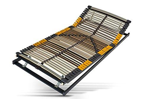 Hilding Sweden Lattenrost, 100 x 200 cm, mit 44 Latten aus Holz (Kopfteil und Fußteil verstellbar), Fertig montiert, Geeignet für alle Matratzen, Härtegrad 9-fach justierbar