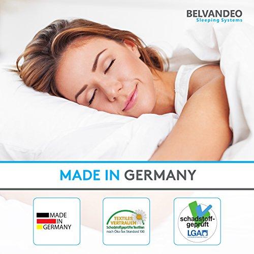 BELVANDEO I Orthopädische Kaltschaummatratze mit 7-Zonen - 80x200-cm I Härtegrad H2 - bis 80-kg I ca. 20 cm hoch I RELAX ULTRASENSE I Endlich auf einer bequemen Matratze schlafen I Made in Germany