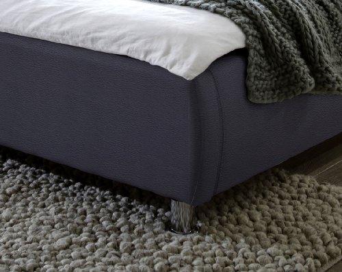 SAM Design Polsterbett 180x200 cm Zarah in grau, modernes Design, Kopfteil abgesteppt, Wasserbett geeignet