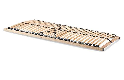 HomeBett 7-Zonen Lattenrost 90x200 cm NV, Geeignet für alle Matratzen, Komfort Lattenrost mit 28 hochelastische Federholzleisten