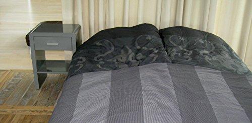 Design Nachttisch Boxspringbett Nachtkommode SN-2 Grau Hochglanz NEU