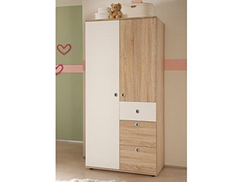 """Kinder-Kleiderschrank Drehtürenschrank Schrank Babyzimmer """"Floris I"""""""