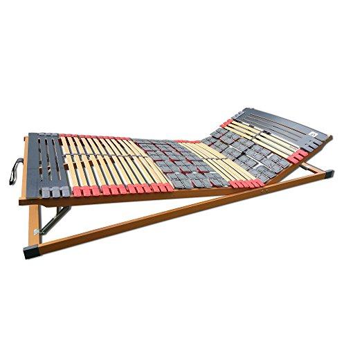 7 Zonen Teller-Leisten Lattenrost Rhodos Komfort KF verstellbar 120 x 200 cm