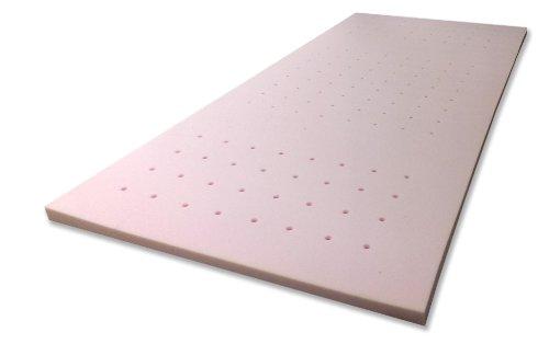 Gelschaum-Topper Breckle Robby 7-Zonen-Bohrung Gesamthöhe 7 cm, mit waschbarem Bezug, RG 60 - Grösse 90x200