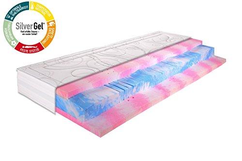 Gelmatratze 7 Zonen Kaltschaummatratze SilverGel® 5000 / 140x200cm / Härtegrad 2