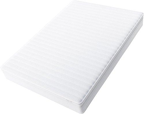 Hilding Sweden Essentials Federkernmatratze in Weiß/Mittelfeste Matratze mit orthopädischem 7-Zonen-Schnitt für alle Schlaftypen (H2-H3)/200 x 140 cm