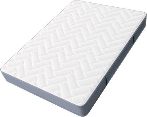 Hilding Sweden Pure Twocore weiß/Mittelfeste 7-Zonen Matratze, mit Sommer-und Winterseite, für alle Schlaftypen (H2-H3)/200 x 90 x 22 cm, Kaltschaummatratze, Schaumstoff, weiß und grau
