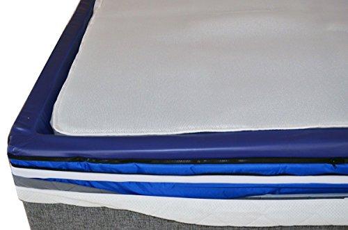 Wasserbett umbauen zu Gelbett Umrüßtung Komplett-Set mit ISOLIT-Auflage & Gelmatratzen Granulat in nur 15 min. umrüßten (160 x 200 cm)