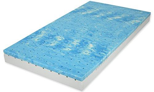 Matratzenheld® 3D-Würfelschnittmatratze Herkules 90x200 cm - H2 (medium), ergonomische 7-Zonen-Kaltschaummatratze mit Gelschaum-Auflage, anschmiegsamer Bezug waschbar bis 60 °C, hautsympathisch, für Allergiker geeignet