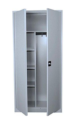 Flügeltürenschrank Kleiderschrank Stahl Lagerschrank Aktenschrank PutzSpind Werkzeugschrank 545520 Lichtgrau kompl. montiert und verschweißt !!