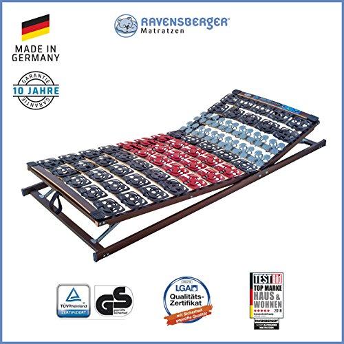 Ravensberger Matratzen Meditec® Lattenrost   5-Zonen-TPEE-Teller-Systemrahmen   Schichtholzrahmen  verstellbar  MADE IN GERMANY - 10 JAHRE GARANTIE   TÜV/GS 100 x 200 cm