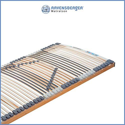 Ravensberger Matratzen Medimed® Lattenrost | 7-Zonen-Buche-Lattenrahmen | 44 Leisten| starr| MADE IN GERMANY - 10 JAHRE GARANTIE | TÜV/GS 120x120 cm