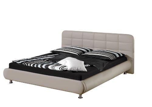 Maintal Betten 234061-4130 Polsterbett Loft 100 x 200 cm, Kunstleder taupe
