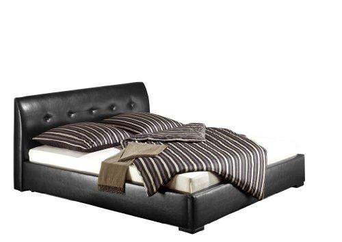 Maintal Betten 235784-4113 Polsterbett Zari 140 x 200 cm, Kunstleder schwarz