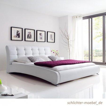 Celine Polsterbett 180x200cm Weiß