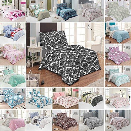 Buymax Bettwäsche Bettbezug 200x220 cm, Kopfkissenbezug 80x80 cm 3 teilig Bettgarnitur Bettwäsche - Set Baumwolle Renforcé mit Reißverschluss Oeko-Tex